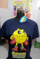 "PAC-MAN T-SHIRT TG.""XL"" MAGLIETTA BLU BANDAI AND GHOSTLY ADVENTURES ORIGINALE"