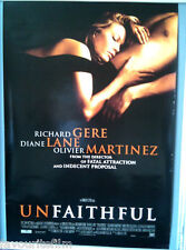 Cinema Poster: UNFAITHFUL 2002 (One Sheet) Diane Lane Richard Gere Adrian Lyne
