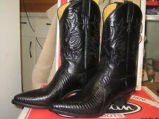 Justin Boots Women 4621 Black Iguana Lizard Size 9 B NEW