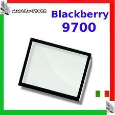 """VETRO x Display VETRINO BLACKBERRY 9700 Bold """"Nero"""" Schermo Ricambio Nuovo"""