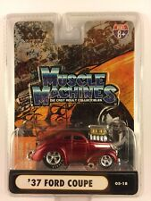Muscle Machines '37 1937 Ford Coupe Candy Apple Red Die-cast 1/64 Scale 05-18