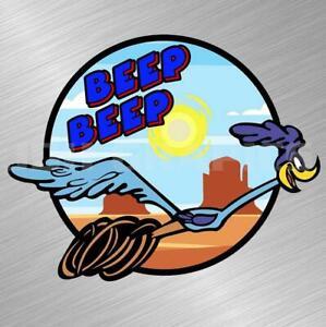Road Runner Beep Beep Vinyl Decal Sticker Cartoon Vintage Plymouth Car Laptop