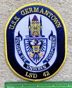 USS GERMANTOWN LSD-42 SHIP Whidbey Island-Class Dock Landing Ship Navy Patch