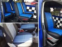 Tailored Eco-Leather Seat Covers VOLKSWAGEN T5 9 SEATER 2003-2015