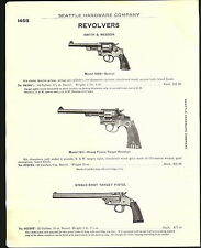 1915 ADVERTISEMENT 2 Sided Smith & Wesson Revolvers Police Military 1908 Special