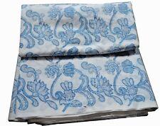 10 Yard Hand Block Print Flower Blue Pure Cotton Fabric Sanganeri Running Fabric