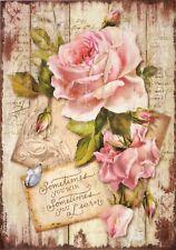 Carta di riso per Decoupage Decopatch Scrapbook Craft sheet comoda Rose