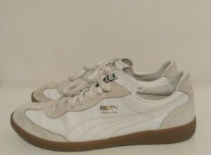 PUMA Super Liga Og Retro Beige/White Men's Leather Sneakers 356999-09 US Sz 12