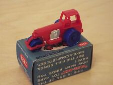 BLUE BOX Plastic Toy Car Series 7428 Road Roller, Boxed