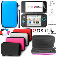 For Nintendo 2DS XL EVA Hard Carrying Case Bag Cover+1Pcs Screen Protector Shell