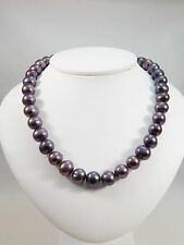 Lovely 11mm Freshwater Black Pearl Necklace