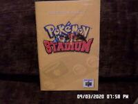 Pokemon Stadium (Nintendo 64 N-64) Instruction Manual Booklet Only... NO GAME
