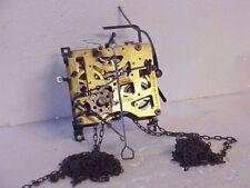 Vintage E. Schmeckenbacher Musical Cuckoo Clock Movement & Chains parts repair L