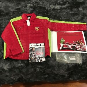 NOS 2014 PORSCHE DESIGN MEN'S FACTORY TEAM COLLECTION JACKET. EURO S:USA XS.
