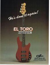 1983 G&L El Toro Electric Bass Guitar Magazine Ad