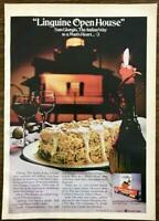 1972 San Giorgio Linguine Print Ad Open House The Italian Way to a Man's Heart