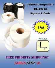 8 Rolls - 30332 - Dymo® Compatible Labels - Small Multipurpose - 750 P/R