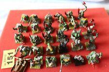 Juegos taller Warhammer Orcos Boyz Ejército Regimiento 29 Modelos Trabajo Lote Repuestos
