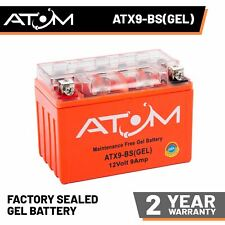 Atom Advanced ATX9-BS Gel Motorcycle Battery - Replaces YTX9-BS