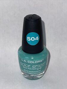LA COLORS Color Craze Nail Polish Sea Foam 0.44 L.A. NP504 504 NEW Greenish Blue