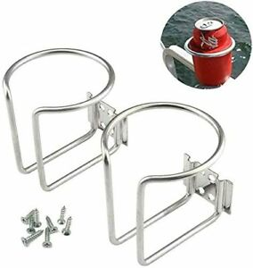Fishing Boat Accessories Cup Holder Stainless Steel Easy to Install 2 Pack NEW