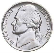 5c BU Unc MS 1942-P Jefferson WARTIME Silver Nickel *676