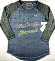 NWT NEW Womens Lucky Brand Pink Floyd Shine On You Crazy Diamond T-Shirt Top Tee