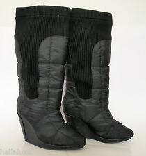 RARE~Adidas SLVR RIB WEDGE BOOTS KNEE HI Winter Fashion Dress Shoes~Women sz 8.5