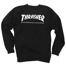 Thrasher Skate Mag Crew Neck Skateboard Sweatshirt Black Xl