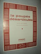 C JEROME PARTITION MUSICALE BELGIQUE LA POUPEE DESARTICULEE