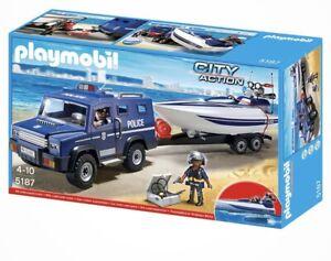 Playmobil 5187: POLIZEI-TRUCK und SPEED-BOOT - NEU OVP