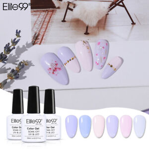 Elite99 Soak Off Lavender UV Color Gel Nail Polish Top Base Coat Manicure Salon