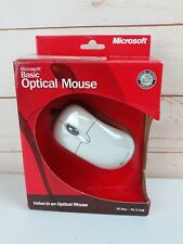 NEW Microsoft Basic Optical USB PS/2 PC MAC Mouse White MICROSOFT NEW P58-00001