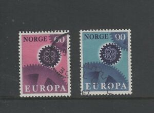 NORWAY 1967 EUROPA SET OF 2 Fine Used