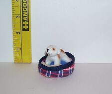 Fashion Doll Miniature Stuffed Pet Tiny Dog With Toy & Bed Only Hearts Toy