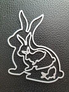 Stanzschablone Hasen Hase Kaninchen in 4 Größen  Stanzform Ostern Stanze