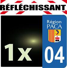 DEPARTEMENT 04 rétro-réfléchissant Plaque Auto 1 sticker autocollant reflectif