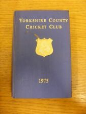 1975 Yorkshire County Cricket Club: Official Annual, Hard Back, Embossed Details