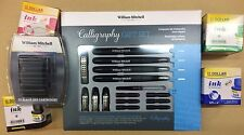 WILLIAM MITCHELL CALLIGRAPHY FOUNTAIN PEN SET + 20 INK CARTRIDGE + 4 DOLLAR INK