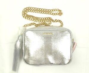 Victoria's Secret Crossbody Bag Tassel Silver Gold Chain Retail