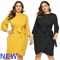 Plus Size Maxi Party Oversized O Neck Casual Dresses Womens Evening Cocktail