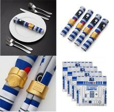 NEW Official EXCLUSIVE Star Wars R2-D2 Napkin & C-3PO 8 Pc Napkin Ring Set Decor