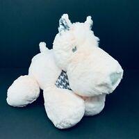 Demdaco Nat & Jules Pink White Gray Houndstooth Scottie Dog Plush Baby Stuffed