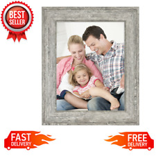 """8.5"""" x 11"""" Tabletop Picture Frame Wall Hanging Photo Home Decor, Rustic Gray NEW"""
