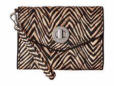 NEW Brown Black Zebra VERA BRADLEY Your Turn Smartphone Wristlet Wallet NWT