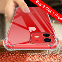 For iPhone 11 Pro Max XR XS MAX 8 7 Plus Case Clear Hard Bumper Shockproof Cover