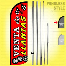 Venta Llantas Windless Swooper Flag Kit 15' Feather Banner Sign rq