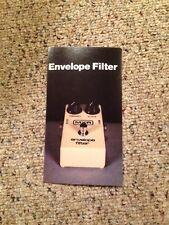 Vintage Mxr Guitar Effects Pedal Lit Spec Sheets ~Envelope Filter~ 70's-80's