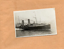 Real photo S.S Monas Queen paddle steamer embossed with I.O.M studio name  art