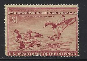 US FEDERAL DUCK STAMP, RW 13, USED, LOT 1-5-41